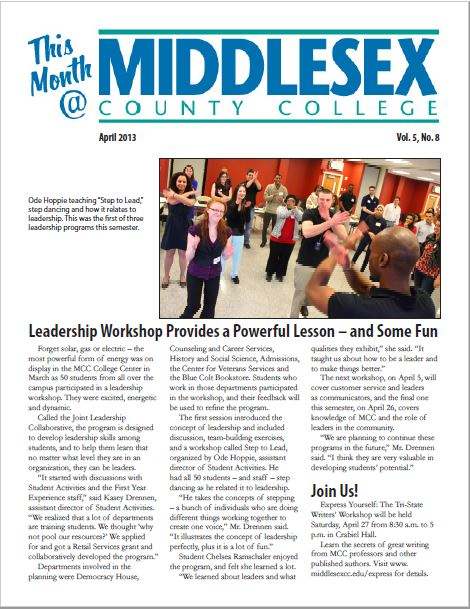 This Month @ Middlesex County College April 2013
